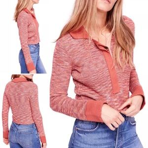 Free People | Making Memories Knit Henley top New